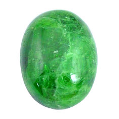 Natural 12.40cts chrome diopside green cabochon 17x13 mm loose gemstone s10859