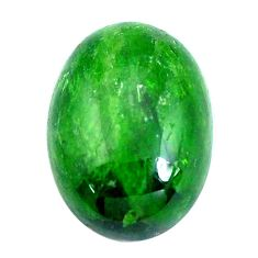 Natural 11.40cts chrome diopside green cabochon 18x13 mm loose gemstone s10849