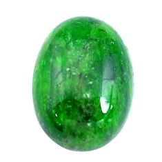 Natural 12.40cts chrome diopside green cabochon 18x13 mm loose gemstone s10850