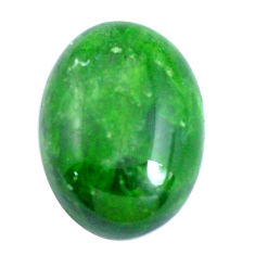 Natural 12.40cts chrome diopside green cabochon 18x13 mm loose gemstone s10853