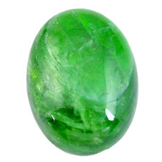 Natural 11.30cts chrome diopside green cabochon 18x13 mm loose gemstone s12261