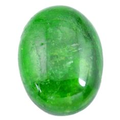 Natural 11.30cts chrome diopside green cabochon 18x13 mm loose gemstone s12266