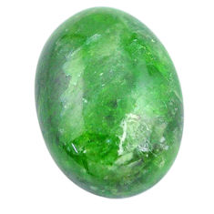 Natural 12.45cts chrome diopside green cabochon 18x13 mm loose gemstone s12269