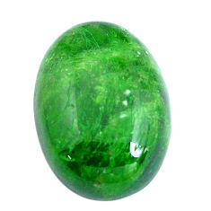 Natural 12.40cts chrome diopside green cabochon 18x13.5 mm loose gemstone s10851
