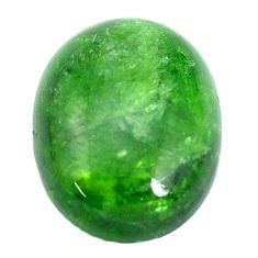 Natural 19.45cts chrome diopside green cabochon 20x15 mm loose gemstone s10344