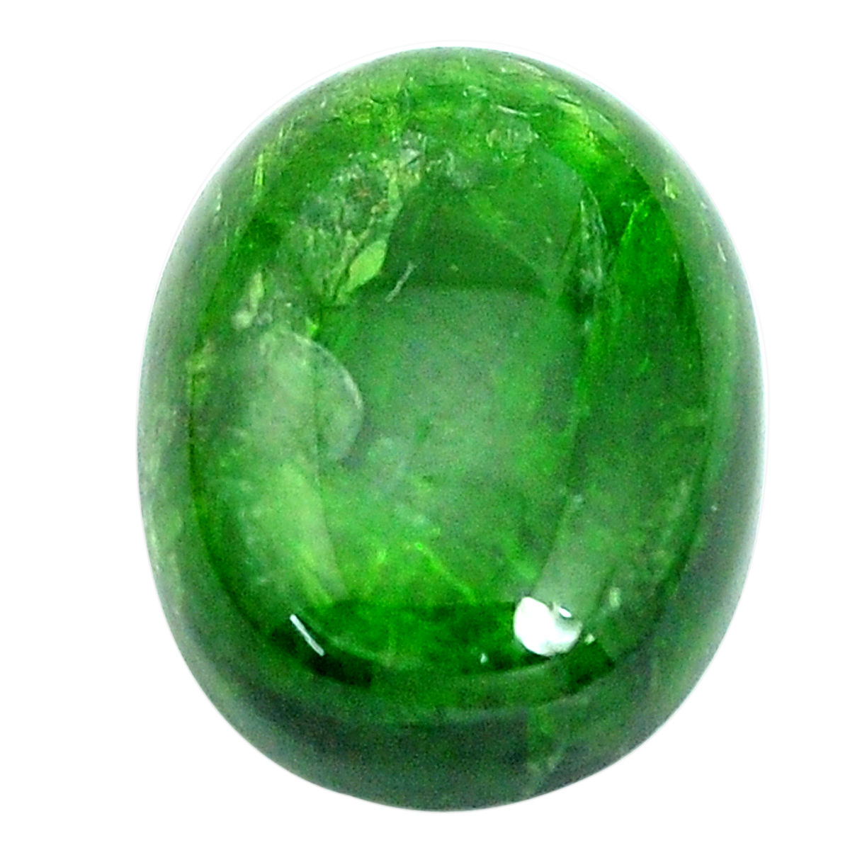 Chrome Diopside With Ziosite Cabochon...Oval Cabochon...26x17x6 mm...25 Cts...#G9049