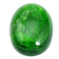 Natural 21.30cts chrome diopside green cabochon 20x15 mm loose gemstone s10348