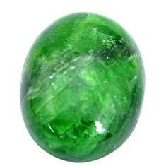 Natural 21.30cts chrome diopside green cabochon 20x15 mm loose gemstone s10350