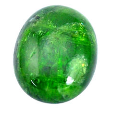 Natural 19.45cts chrome diopside green cabochon 20x15 mm loose gemstone s10351