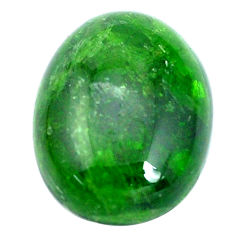 Natural 21.30cts chrome diopside green cabochon 20x15 mm loose gemstone s10353