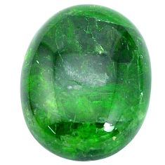 Natural 17.40cts chrome diopside green cabochon 20x15 mm loose gemstone s10359