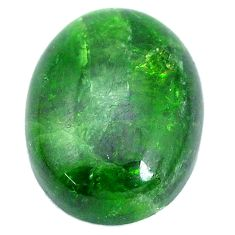 Natural 20.15cts chrome diopside green cabochon 20x15 mm loose gemstone s10360