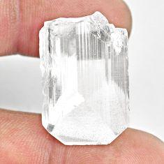 Natural 40.15cts danburite rough white rough 25x17.5 mm loose gemstone s13508