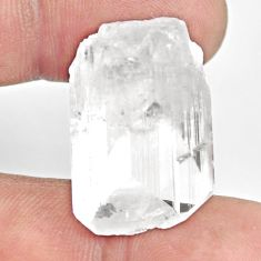 Natural 35.10cts danburite rough white rough 26x17mm fancy loose gemstone s13507