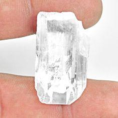 Natural 36.30cts danburite rough white rough 30x17mm fancy loose gemstone s13513