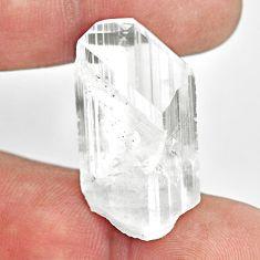 Natural 34.05cts danburite rough white rough 31x17mm fancy loose gemstone s13514