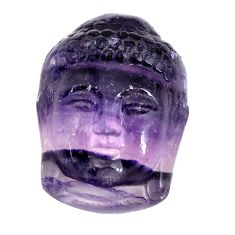 Natural 29.10cts fluorite buddha carving 23x16.5 mm fancy loose gemstone s13229