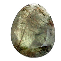Natural 12.40cts green rutile faceted 21x16 mm fancy loose gemstone s13066