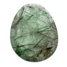 Natural 11.30cts green rutile faceted 21x16 mm fancy loose gemstone s13067