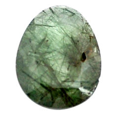Natural 12.40cts green rutile faceted 21x16 mm oval loose gemstone s13072