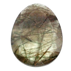 Natural 13.45cts green rutile faceted 21x16 mm oval loose gemstone s13074