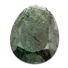 Natural 12.35cts green rutile faceted 21x16 mm oval loose gemstone s13076