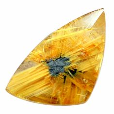 Natural 10.15cts half star rutile golden 22x12.5mm faceted loose gemstone s12903