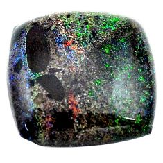 Natural 9.35cts honduran matrix opal black 16x16mm octagan loose gemstone s13850