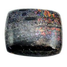 Natural 11.30cts honduran matrix opal black 18x17 mm loose gemstone s13852