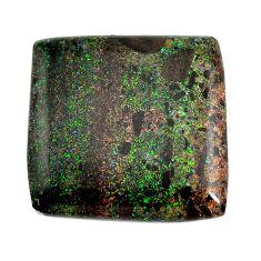 Natural 11.30cts honduran matrix opal black 21x21 mm loose gemstone s13217