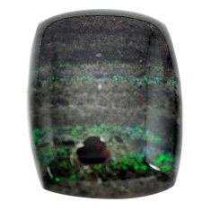 Natural 15.30cts honduran matrix opal black 22.5x16 mm loose gemstone s13845