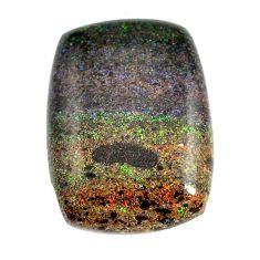Natural 13.45cts honduran matrix opal black 22.5x16.5 mm loose gemstone s13201
