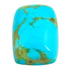 Natural 10.15cts kingman turquoise blue cabochon 17x12.5mm loose gemstone s14190