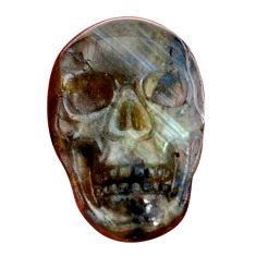 Natural 13.45cts labradorite blue carving 22x15 mm skull loose gemstone s9997