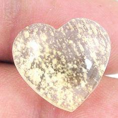 Natural 12.35cts libyan desert glass 16x17 mm heart loose gemstone s12155