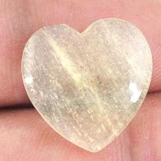 Natural 10.15cts libyan desert glass 17.5x17 mm heart loose gemstone s12158