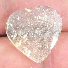 Natural 10.10cts libyan desert glass 17.5x18 mm heart loose gemstone s12150