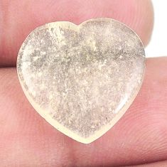Natural 10.15cts libyan desert glass 17x17.5 mm heart loose gemstone s12106