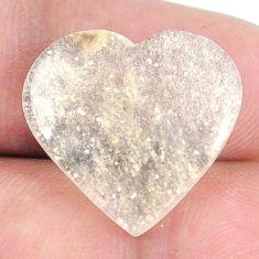 Natural 12.35cts libyan desert glass 18.5x20 mm heart loose gemstone s12154