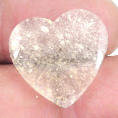 Natural 10.30cts libyan desert glass 18x18.5 mm heart loose gemstone s12143