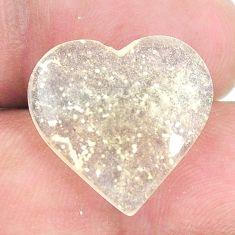 Natural 12.40cts libyan desert glass 18x18.5 mm heart loose gemstone s12149