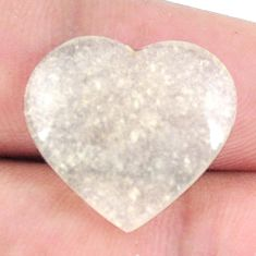 Natural 10.15cts libyan desert glass 18x19 mm heart loose gemstone s12147