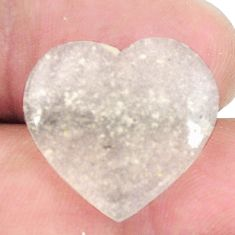 Natural 11.30cts libyan desert glass 18x20 mm heart loose gemstone s12152