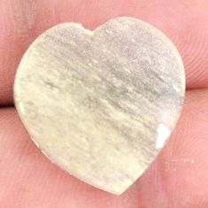 Natural 11.30cts libyan desert glass 20x18.5 mm heart loose gemstone s12142