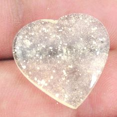 Natural 13.45cts libyan desert glass 20x20 mm heart loose gemstone s12148