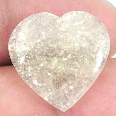 Natural 14.35cts libyan desert glass 20x20 mm heart loose gemstone s12151