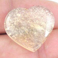 Natural 15.10cts libyan desert glass 20x22.5 mm heart loose gemstone s12141