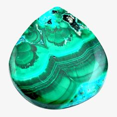 Natural 22.35cts malachite in chrysocolla green 23x21 mm loose gemstone s14559