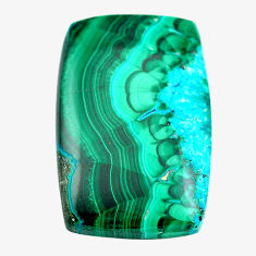Natural 73.45cts malachite in chrysocolla green 39x25 mm loose gemstone s14508