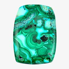 Natural 64.45cts malachite in chrysocolla green 42.5x28 mm loose gemstone s14509